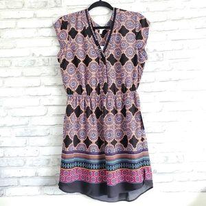 DR2 Cap Sleeve V-neck Print Dress / Top